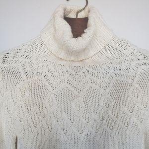 The Limited // wool blend bead long sleeve crochet